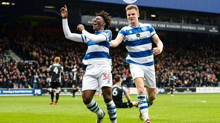 Smith and Eze celebrate as QPR go 3-1 up