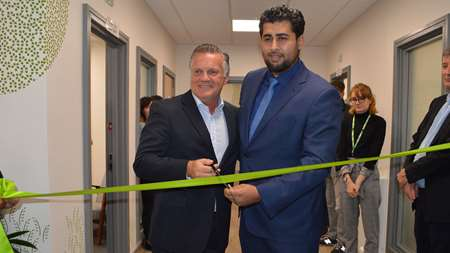 Andy and Shahin officially open the centre
