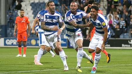 Massimo Luongo runs off in celebration following his goal