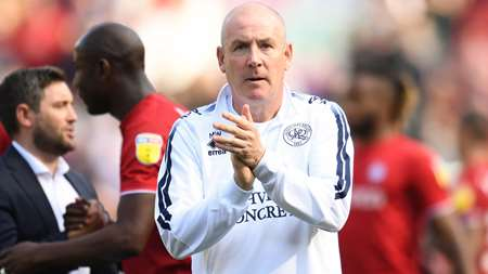 Mark Warburton thanks the travelling R's fans after the game