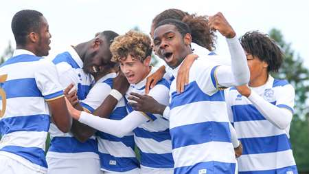 The U18s celebrate their dramatic winner at Imperial Heston