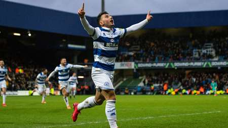 The youngster celebrates his fourth goal of the season