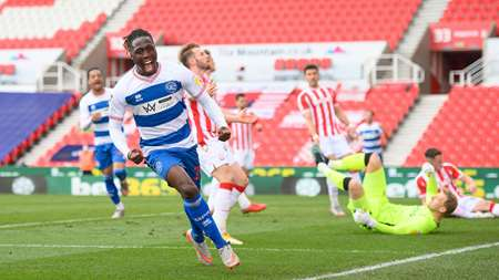 Kakay shows his delight after netting his first league goal for QPR.